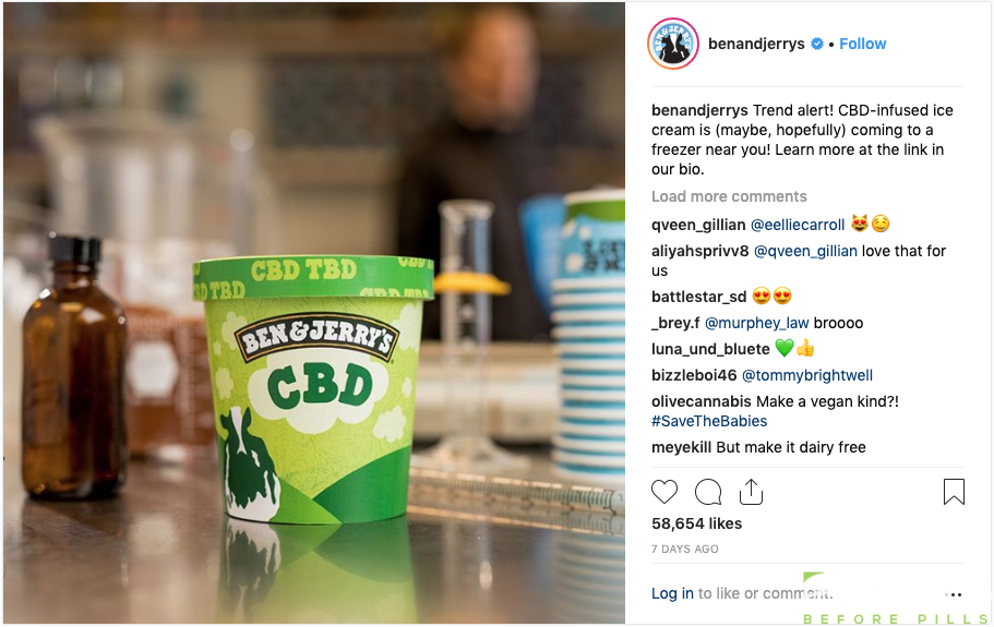 Ben & Jerry's Intends to Make CBD Ice Cream
