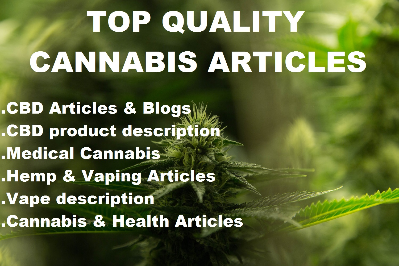 Medical Marijuana and Cannabis Articles Writing