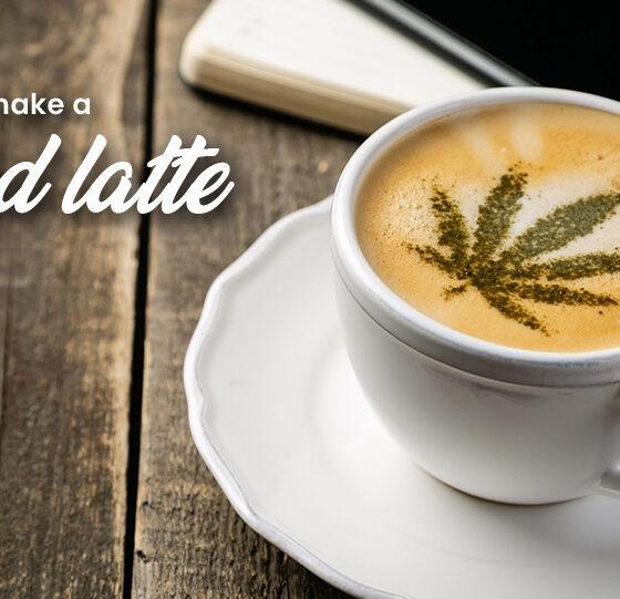 make a CBD latte
