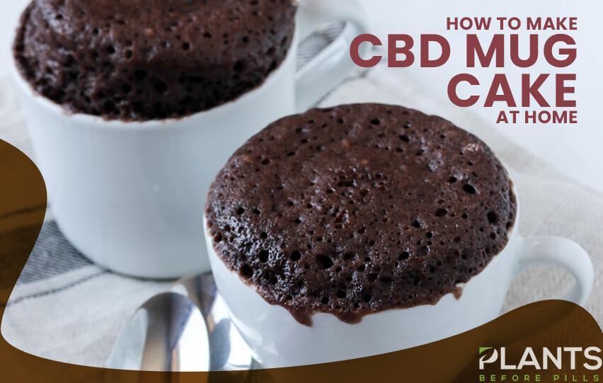 CBD Mug Cake at Home
